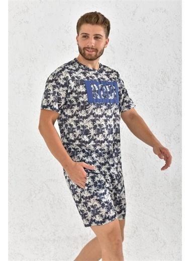 Rodi Jeans Rodi Erkek Şortlu Pijama Takım Rd21Ye660001 Lacivert